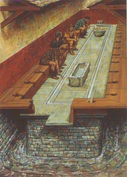 Интересный факт. Римский туалет