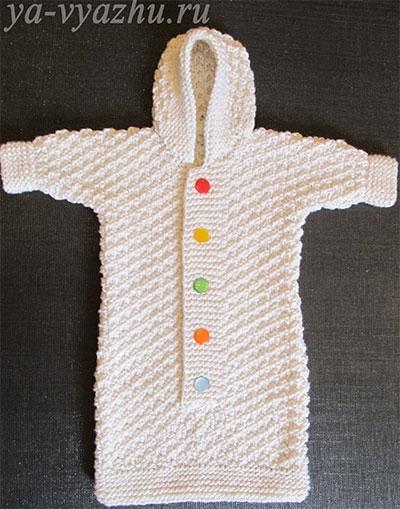 Конверт для новорожденного вязать спицами.схемы
