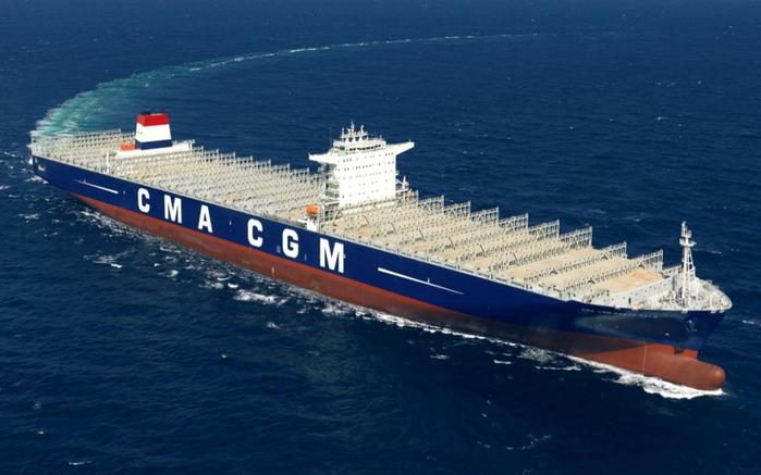 контейнеровоз CMA CGM Marco Polo фото (700x437, 295Kb)