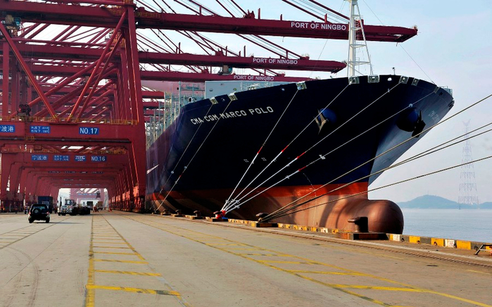 контейнеровоз CMA CGM Marco Polo фото 4 (700x436, 379Kb)