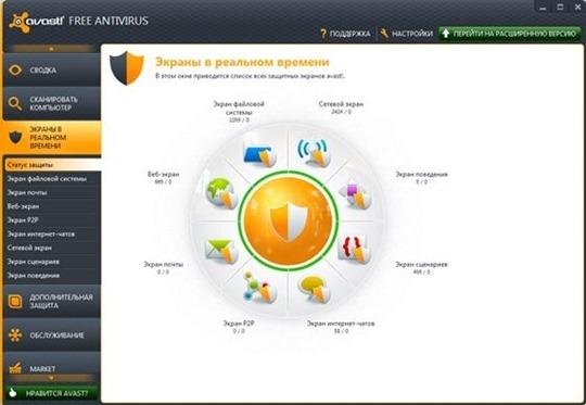 Бесплатный антивирус для ПК avast! Free Antivirus. Скачать бесплатно