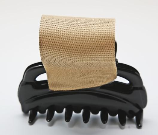 Декорируем лентами заколку-зажим для волос. Мастер-класс (7) (528x453, 244Kb)