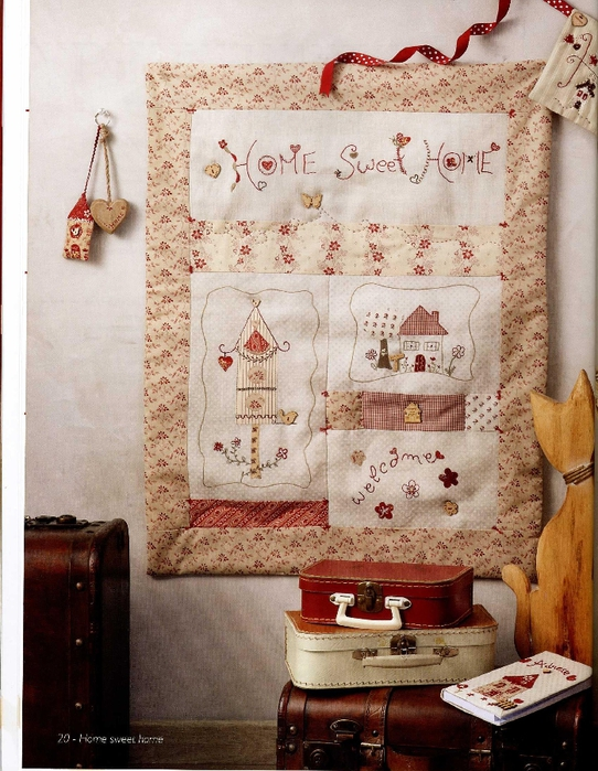 Celine Girgenti-Furykiewicz - Rouge, passionnement... Broderie-Applique-Couture (Home sweet home) - 2012_21 (542x700, 330Kb)