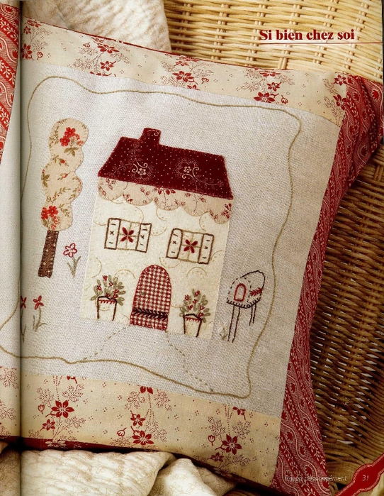 Celine Girgenti-Furykiewicz - Rouge, passionnement... Broderie-Applique-Couture (Home sweet home) - 2012_32 (542x700, 376Kb)