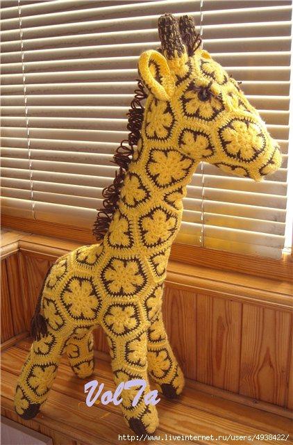 схема жирафа из африканских мотивов