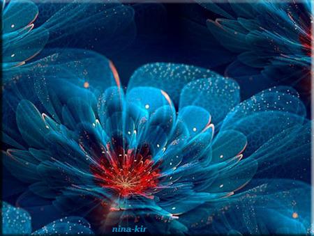 Фрактальная-голубая2 (450x339, 317Kb)