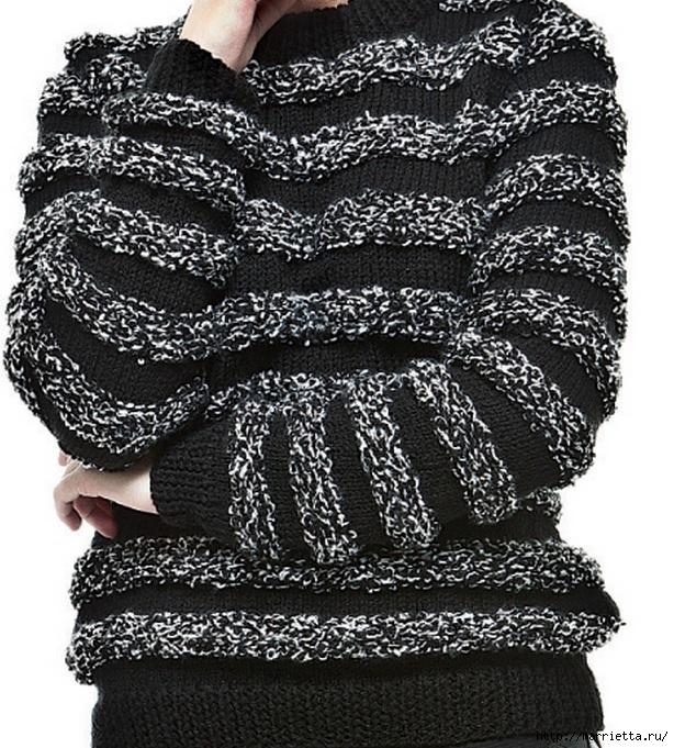 Выкройка женского пуловера (2) (614x681, 361Kb)