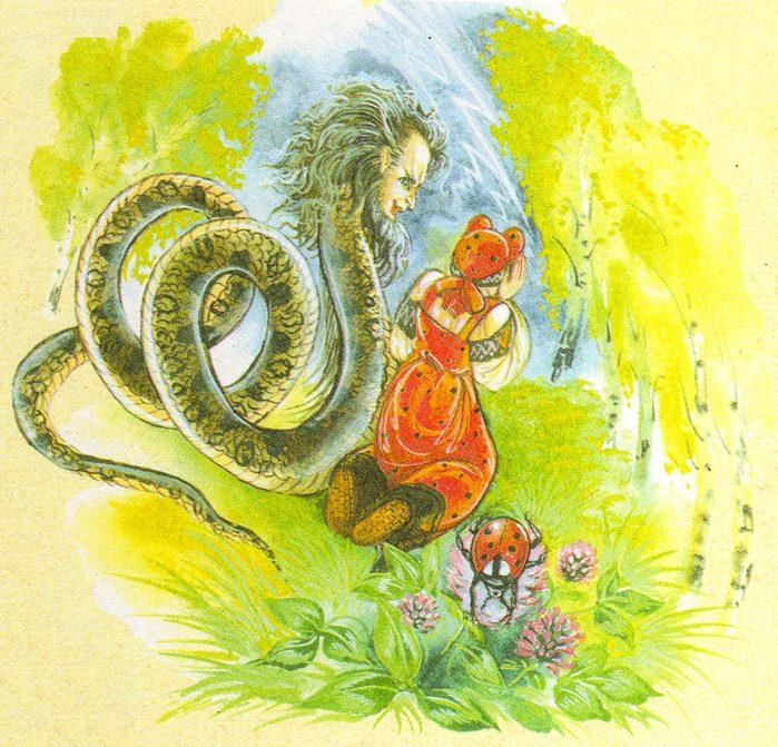 Божья коровка и Змей (700x671, 130Kb)