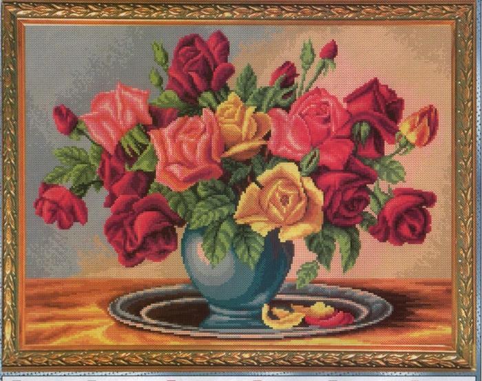 Картины с розами для вышивки 276