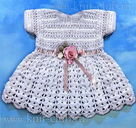 Как накрахмалить детское платье вязаное крючком