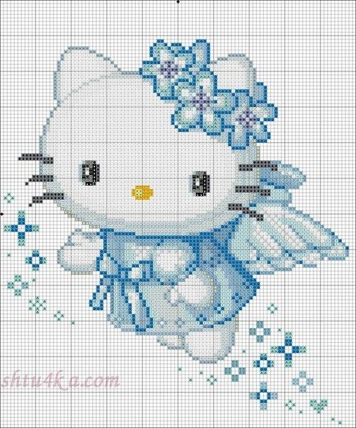 Схемы вышивок Hello Kitty