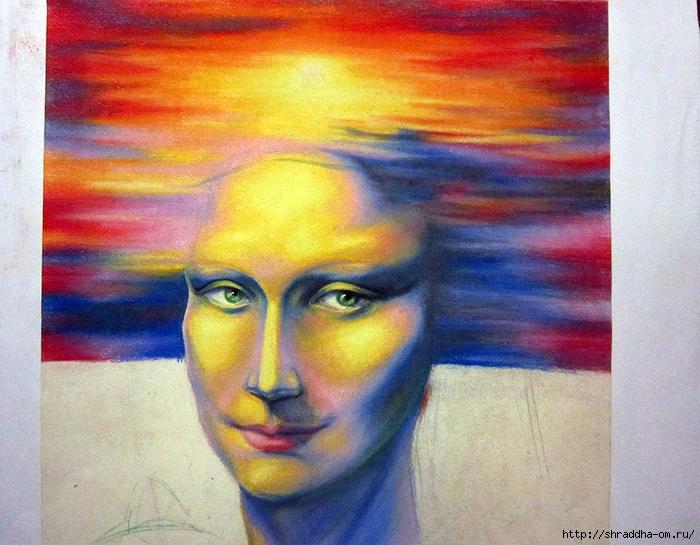 Мона Лиза, пастель, автор Shraddha (2) (700x545, 333Kb)
