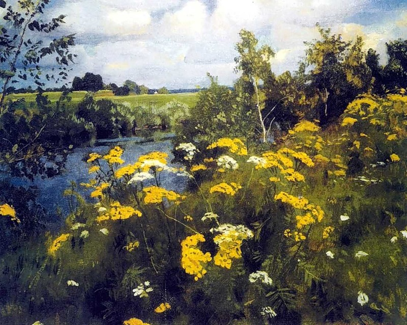 Полевые цветы в живописи картинки 3