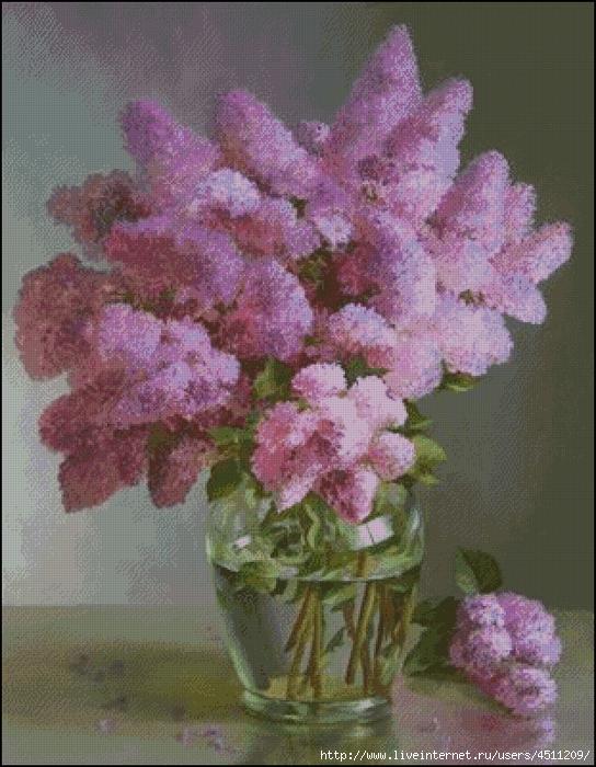 Lilac in glass vase (544x700, 366Kb)