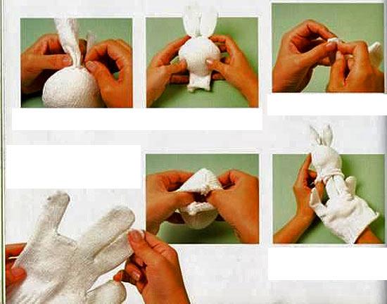 Как сделать куклу на руку своими руками из перчатки