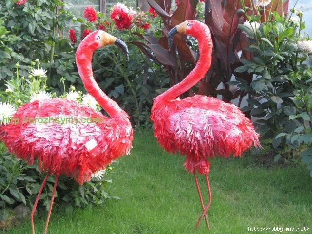 Фламинго своими руками фото