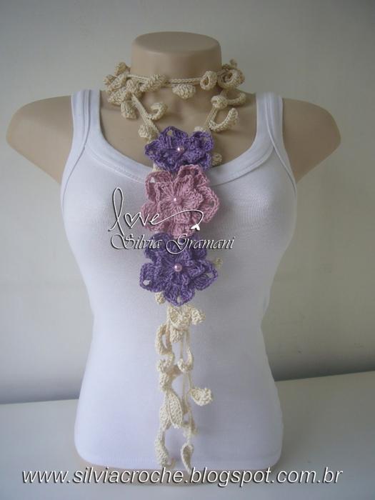 Silvia Gramani cordão relva flores 2 cores (525x700, 199Kb)