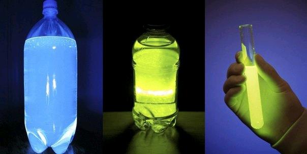 Как сделать светящеюся воду из перекиси