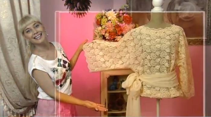 Как сшить блузку своими руками из кружева 49