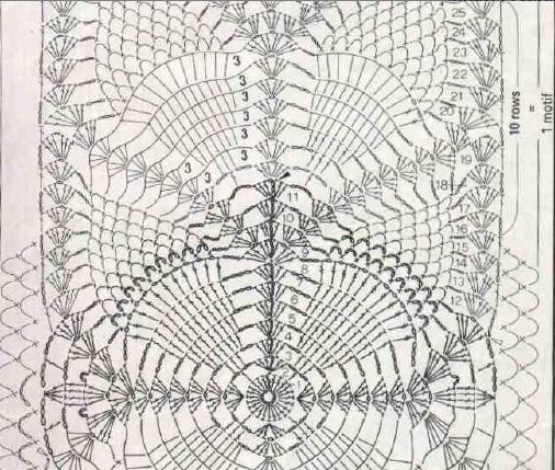 ананасовый шарфик начало (506x429, 264Kb)