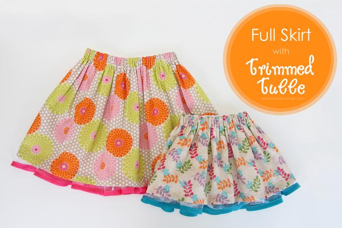 Как сшить юбку на ребенка 5