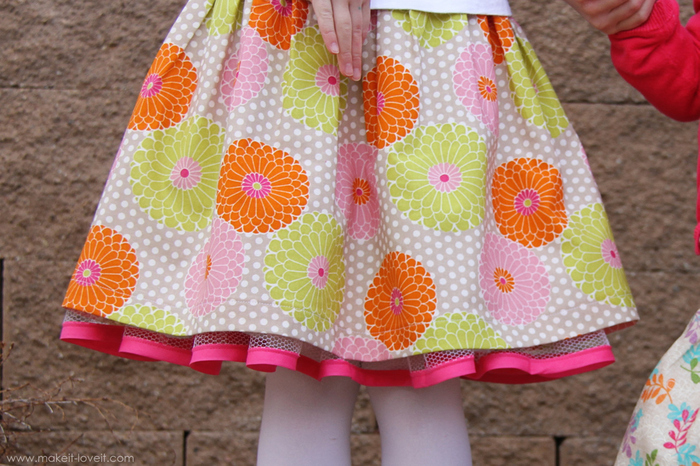 Детская юбка сшить фото