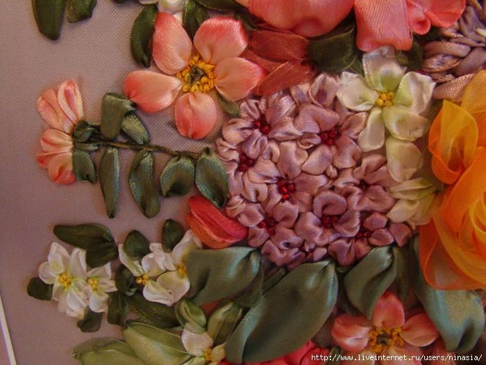 Картины цветов из шелка своими руками