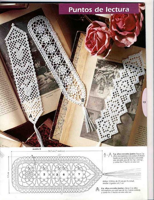 Вязаные закладки для книг.