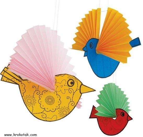 Оригами для детей.  Схемы.  Мастер кл.  Как делать оригами - English.  Как сделать из бумаги птицу - Самод.
