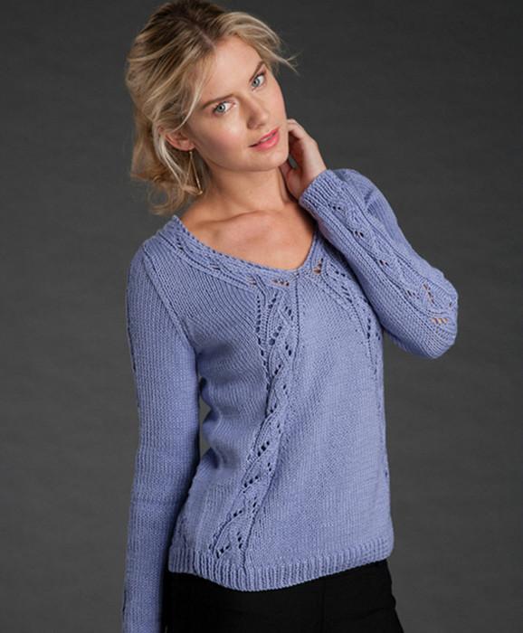 фиалковый пуловер (578x700, 90Kb)