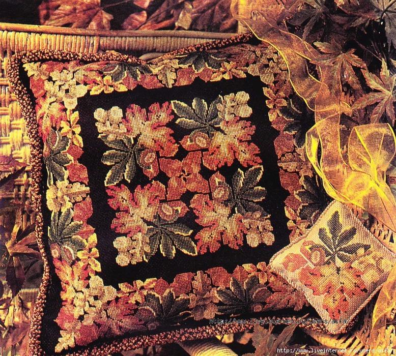 Подушка осенняя Вышивка