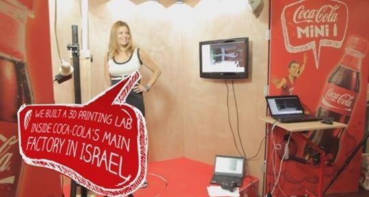 Реклама Coca-Cola с 3D-копиями израильтян, напечатанными на принтере