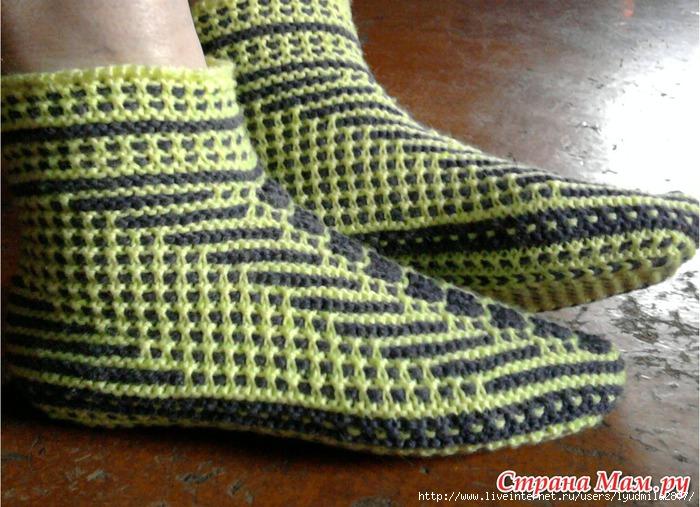 Как связать след у носка