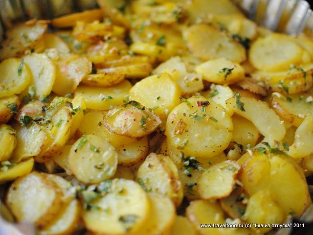 Вкусный картофель с грибами в духовке рецепт