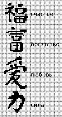 Иероглифы для филейки