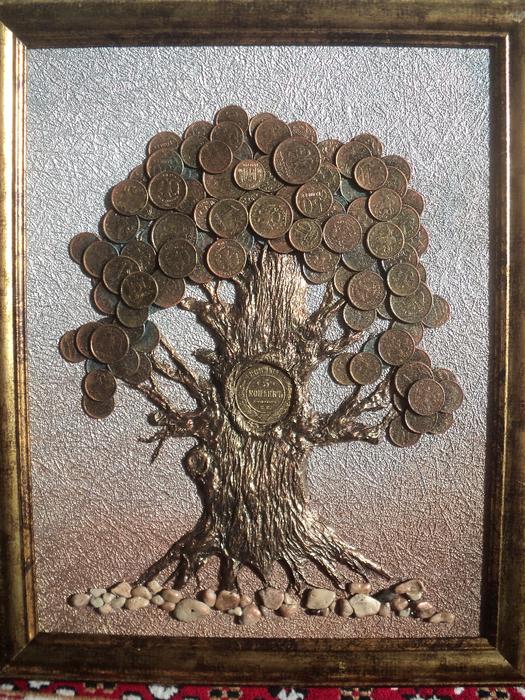 Денежное дерево своими руками с монетами фото