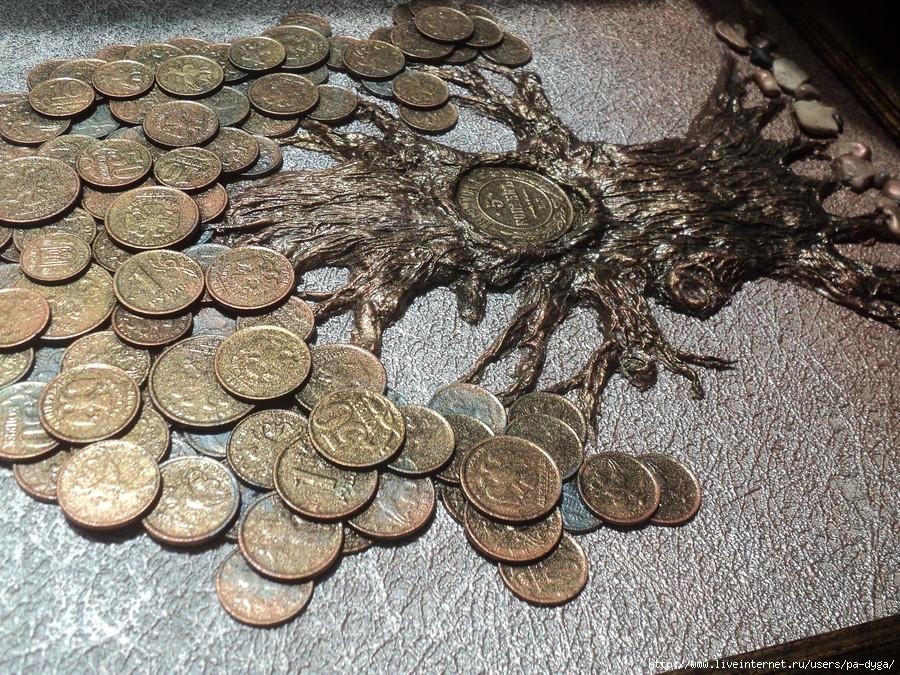 Денежное дерево панно из монет своими руками 59