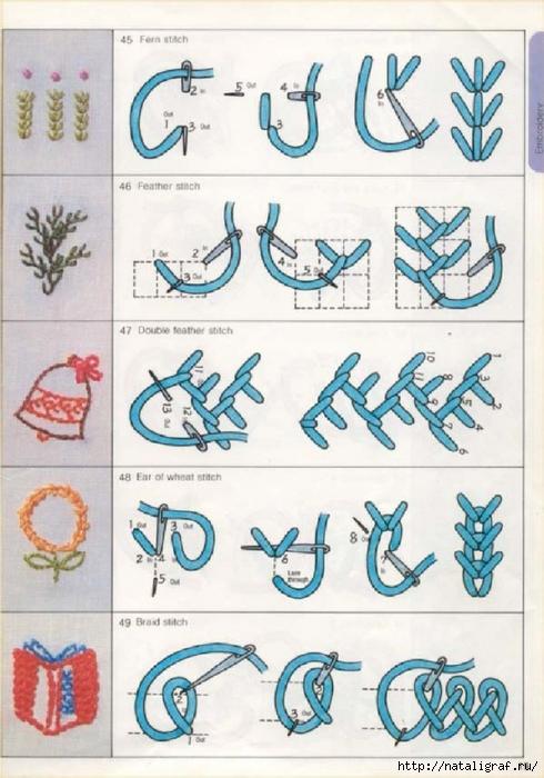 Схема вышивки вручную 26