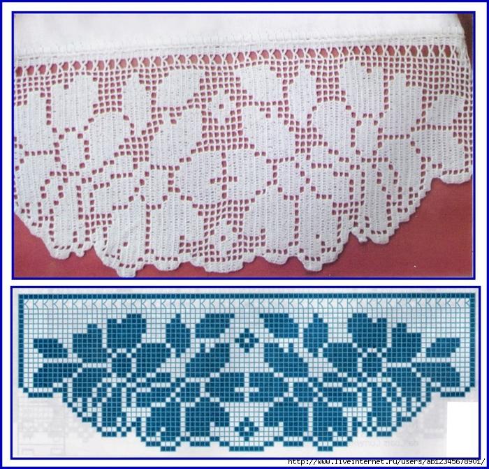 Филейное вязание бордюры 67
