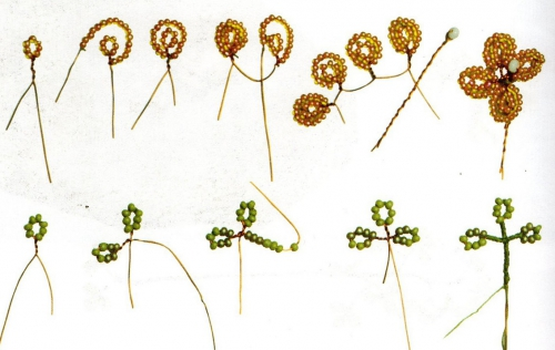 Для плетения цветочков вы можете взять любой другой бисер, но мы будем плести в данном случаи из белого бисера.