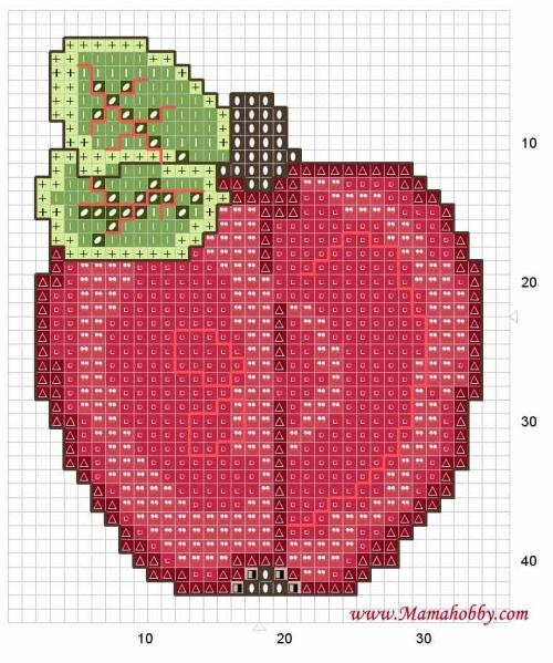 Яблочный сад из бисера.