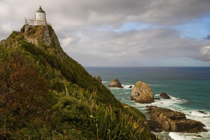 маяк Nugget Point Новая Зеландия фото 4 (700x466, 407Kb)