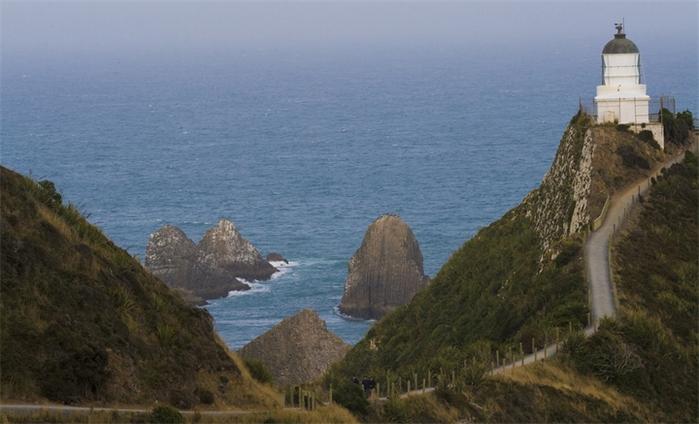 маяк Nugget Point Новая Зеландия фото 7 (700x424, 299Kb)