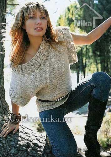 stilnyj-pulover-iz-tolstoj-prjazhi (354x500, 38Kb)