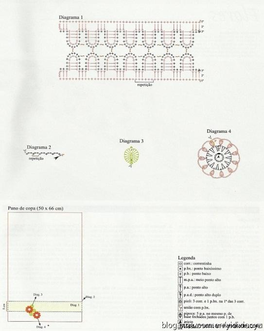 Самая красивая обвязка крючком. Салфетки и полотенца (20) (543x680, 168Kb)