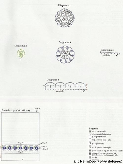 Самая красивая обвязка крючком. Салфетки и полотенца (22) (499x666, 141Kb)