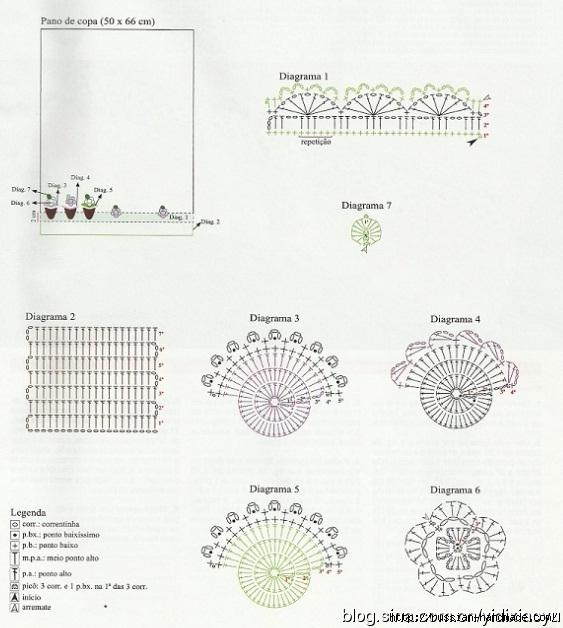 Самая красивая обвязка крючком. Салфетки и полотенца (49) (563x628, 187Kb)