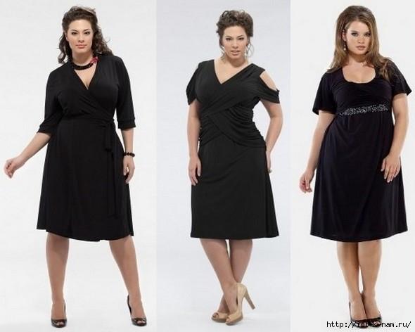 маленькое черное платье для полных дам женщин/4682845_100598647_chernoeplatedlyapolnyx03 (590x472, 103Kb)