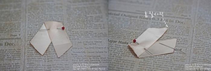 Розочка из ленточки для украшения зажима для волос. Мастер-класс (6) (700x237, 234Kb)