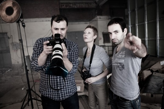 Слева-направо Александр Мец, Ольга Берг, Манук Мелконян.